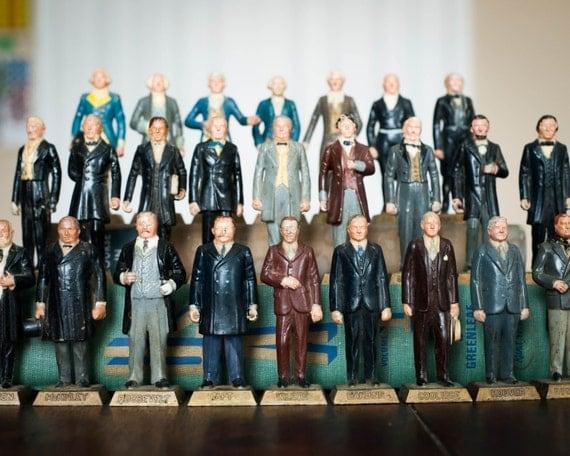 Classroom Design Decoration ~ Vintage us presidents figurines political by windstonevintage
