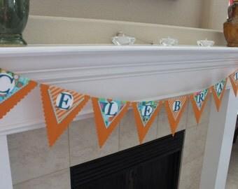 Celebrate Pennant Banner, Celebrate Sign, Birthday Banner, Celebration Banner