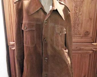 Mod Hipster Lakeland Suede Leather Indie Urban Western Wear Coat Jacket 44