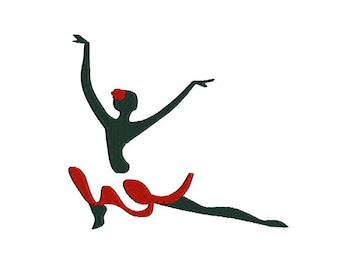 Flamenco dancer machine embroidery design. Flamenco dancer sihouette embroidery design. Flamenco embroidery design. Dance embroidery.