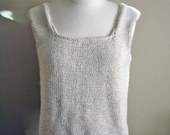 Vintage 90s Oatmeal Knit Crop Top