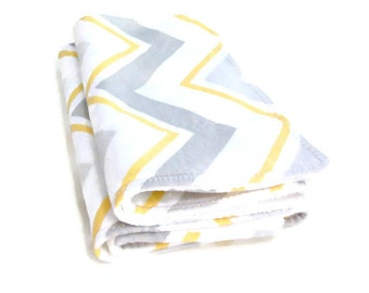 Baby burp cloths, chevron burpies, newborn gift set, 2 burp cloths, cotton flannel, white cotton terry cloth, cotton burpies,