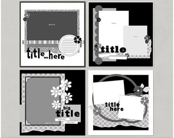 Jael'icious 12x12 Digital Scrapbooking Templates