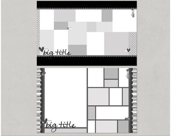 Get 'em Scrapped Set 2 - 8.5x11 Double Page Digital Scrapbooking Templates