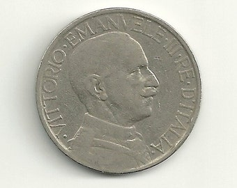 a nice old 1924 Italy 2 Lire KM63 coin