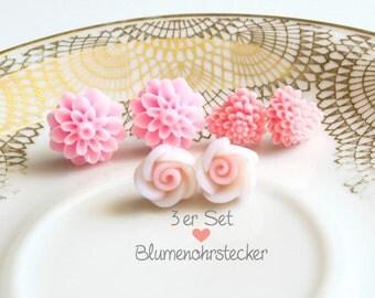 3erpack - flowers earrings-