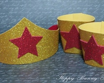Superhero Inspired Collection: Wonder WomanTiara and Cuff Set, Birthday, photo prop, Holloween, Wonder Woman Costume
