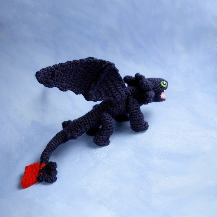 Free Crochet Patterns For Vintage Dolls : CROCHET PATTERN for Toothless dragon amigurumi by tinyAlchemy