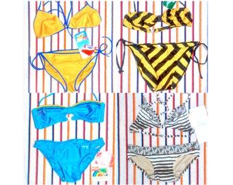 1970s Bikinis. Unused Old Stock 2 pieces Swimsuit