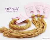 Hand dyed cotton thread for hand embroidery, cross stitch, point de croix - 'Old Gold'
