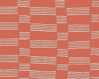 Half Yard - 1/2 Yard - Etapp in Tangerine - LUCKY by Lotta Jansdotter for Windham Fabrics