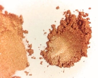 BRONZE SUMMER REFLECTIONS Mineral Eye Shadow - Natural Makeup - Gluten Free Vegan Face Color