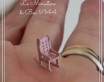 1/144 dollshouse miniatures romantic pink rocking chair, hand made.