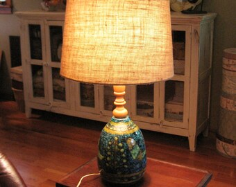 Large Danish Modern Table Lamp