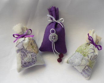 3 mini Lavender sachets of Provence Collection thrice chic