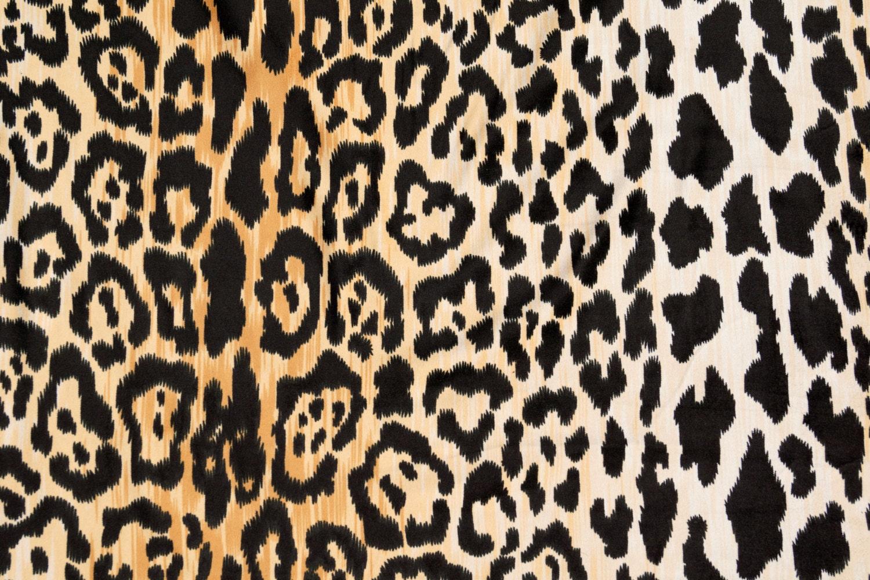 velvety cotton leopard print fabric braemore jamil multi colored