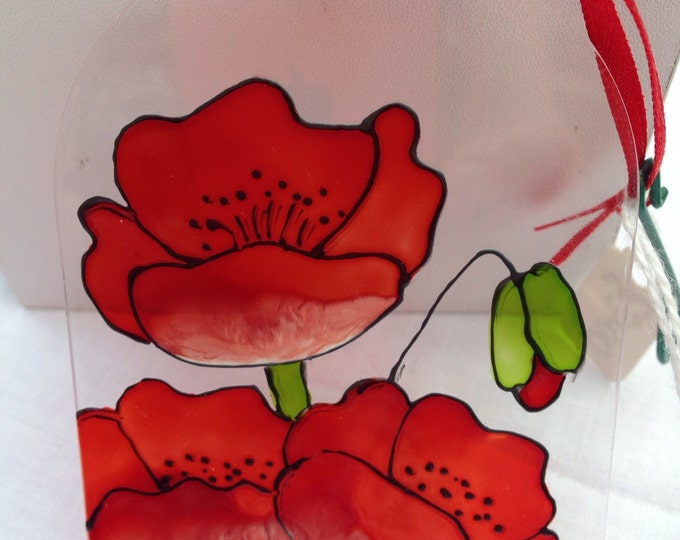 Poppies suncatcher
