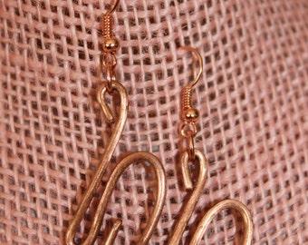 Handemade Copper Earrings