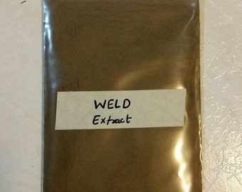Weld Extract Natural Dye. Yellow Color 25 gram