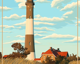 Fire Island Lighthouses - Captree Island, New York (Art Prints available in multiple sizes)