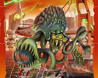 Alien Attack! San Francisco, California (Art Prints available in multiple sizes)