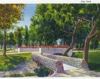 Dallas, Texas - Scenic View in City Park (Art Prints available in multiple sizes)