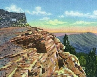 Sandia Mountains, New Mexico - Scenic View from Kiwanis Point (Art Prints available in multiple sizes)