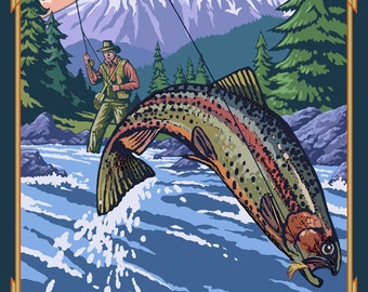 Colorado - Fisherman (Art Prints available in multiple sizes)