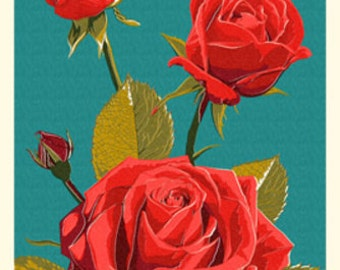 Rose - Letterpress (Art Prints available in multiple sizes)