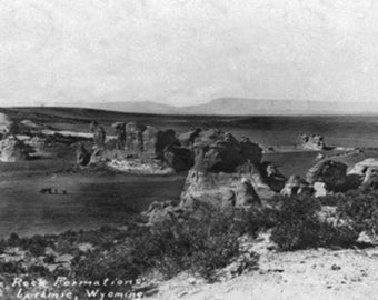 Wyoming - Rock Formations near Laramie Photograph (Art Prints available in multiple sizes)