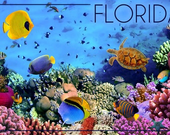 Florida - Underwater Coral (Art Prints available in multiple sizes)