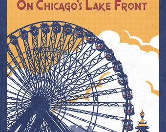 Chicago Illinois - Navy Pier (Art Prints available in multiple sizes)
