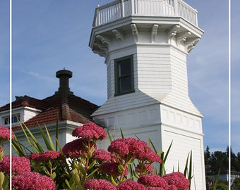Mukilteo Lighthouse Flowers - Mukilteo, Washington (Art Prints available in multiple sizes)