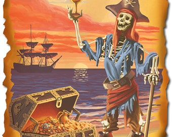 Pirate with Plunder (Art Prints available in multiple sizes)