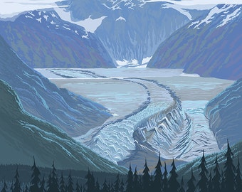 Banff, Canada - Glacier (Art Prints available in multiple sizes)