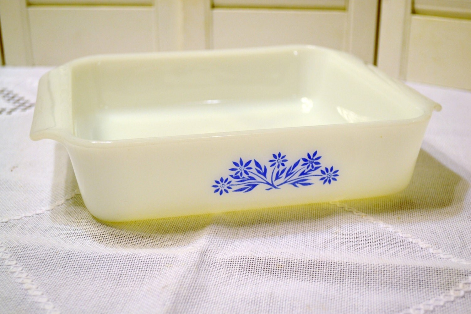 Vintage Fire King Square Baking Dish 8 Inch Anchor Hocking