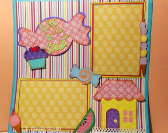 Candy Shop Scrapbook Layout
