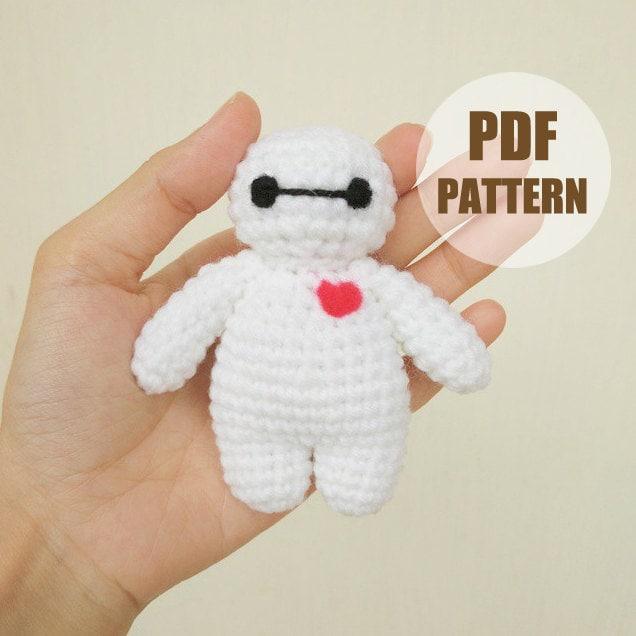 Crochet Amigurumi Baymax Pattern : PATTERN: Baymax Stand ver.1 Crochet Amigurumi Doll PDF Crochet