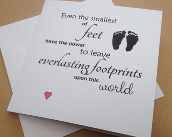 Even the Smallest of feet Card - non personalised