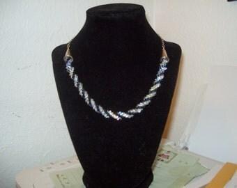 crystal choker Necklace statement necklace kumihimo necklace Swarovski necklace