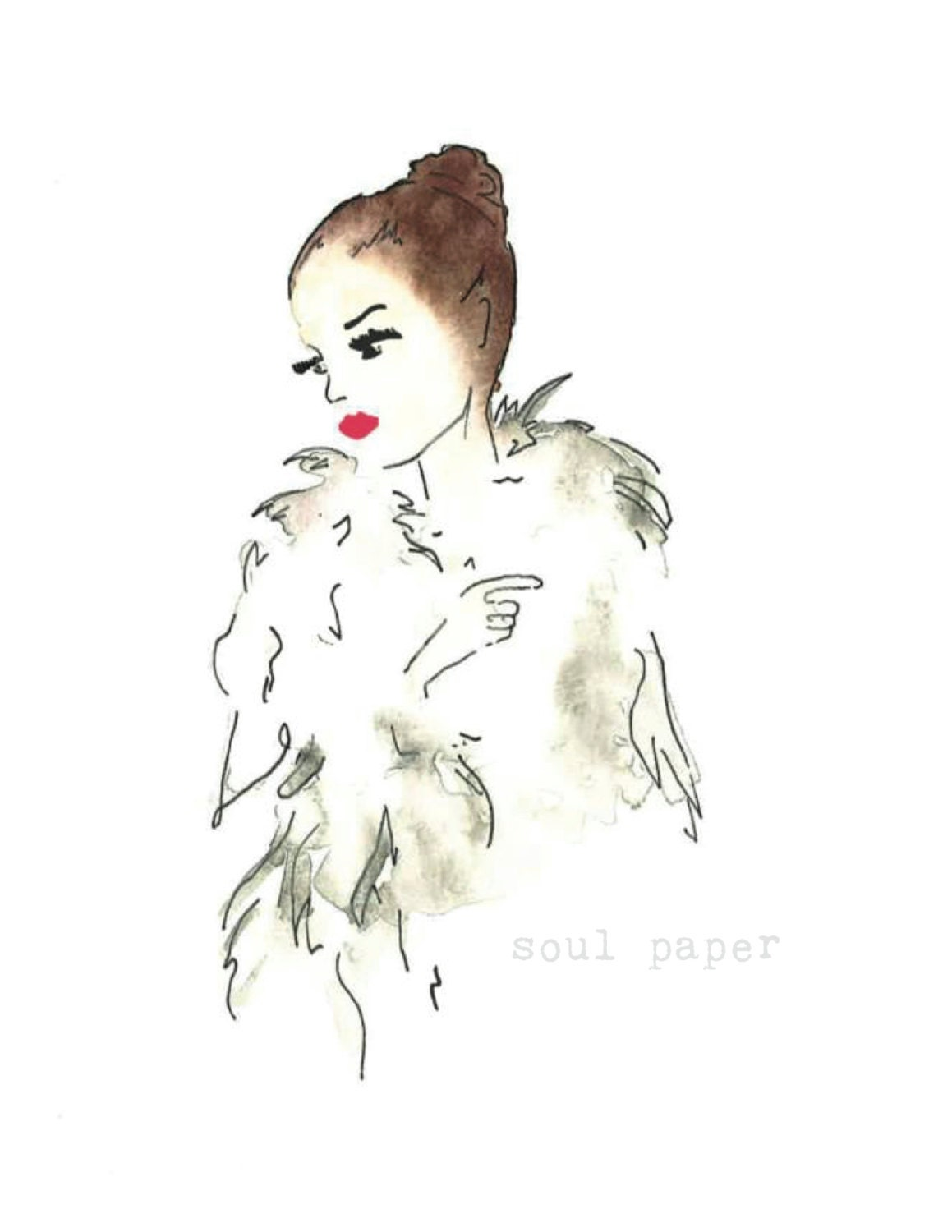 fashion illustration by soulpaperart on etsy