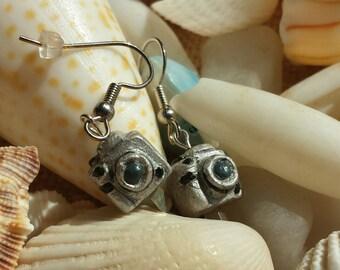 Tiny camera earrings