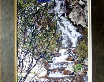 WATERFALL Wall Decor by Pam Ponsart of Pams Fab Photos; frame-ready; includes Designer 2-tone Brown and Camel Mat