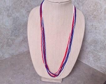"""Handmade loop seed beaded necklace. 29 """" long..."""