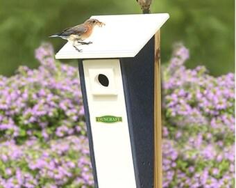Bird-Safe® Peterson Bluebird House, Blue & White