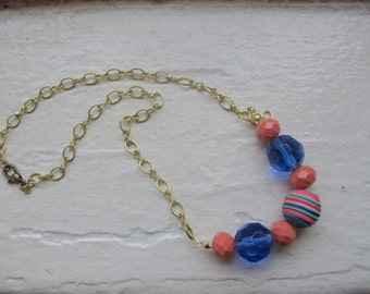 Mixed Material Necklace