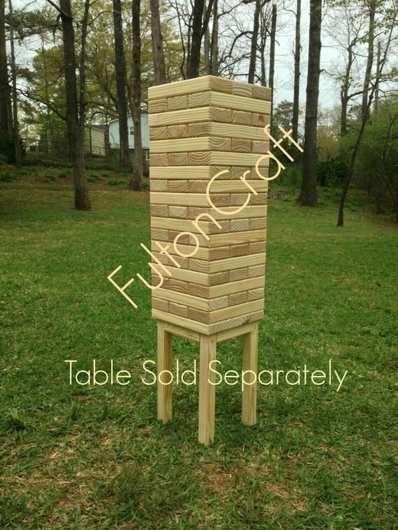 giant tumbling blocks game giant jenga wedding by fultoncraft. Black Bedroom Furniture Sets. Home Design Ideas