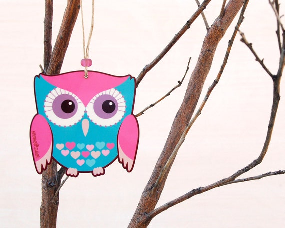 Turquoise owl wall decor girls room owl decor woodland - Girl owl decor ...