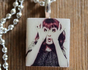 Florence and The Machine Necklace, Scrabble Tile Jewelry- Comes with chain