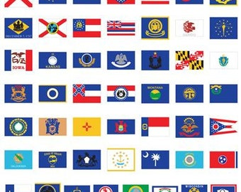 50 States Cricut Cartridge 2003096 capitals flags birds flowers use in classroom